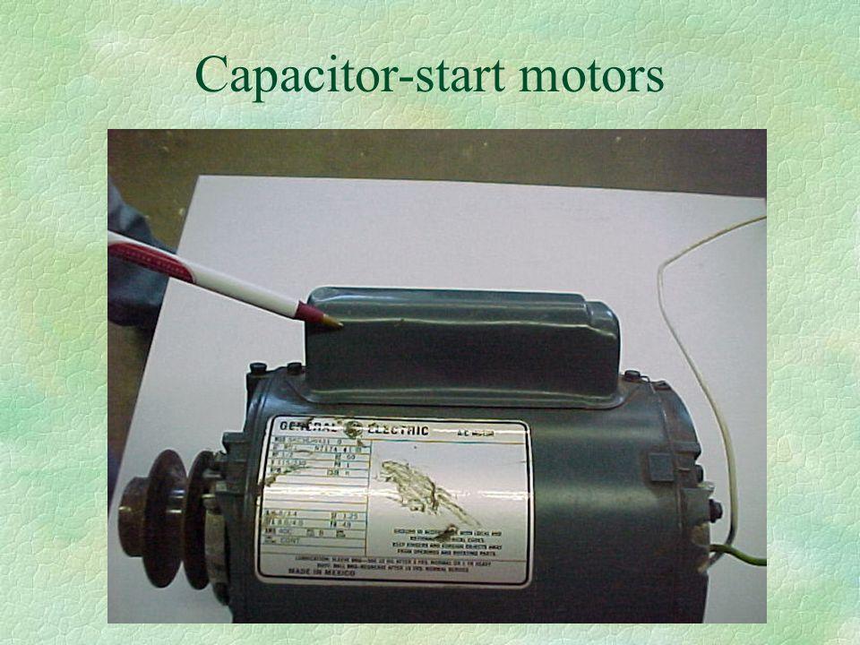 Capacitor-start motors