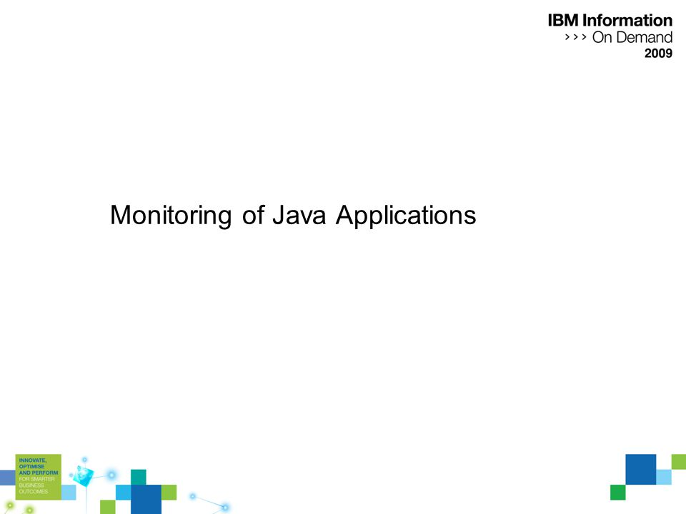 Monitoring of Java Applications