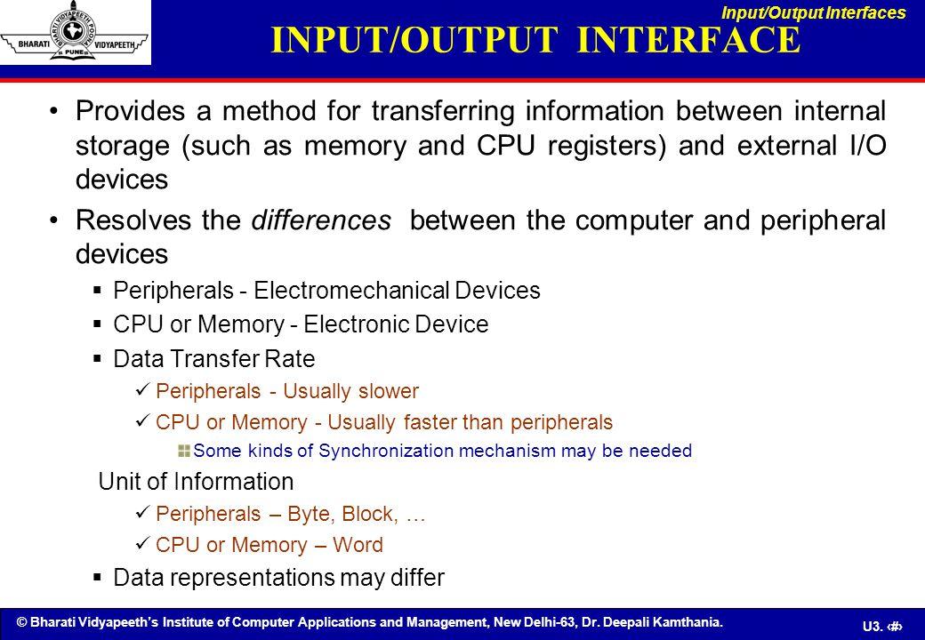 © Bharati Vidyapeeth's Institute of Computer Applications and Management, New Delhi-63, Dr. Deepali Kamthania. U3. 47 Provides a method for transferri