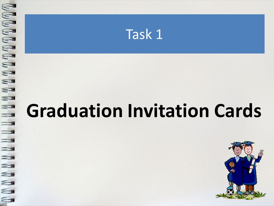 Graduation Invitation Cards Task 1