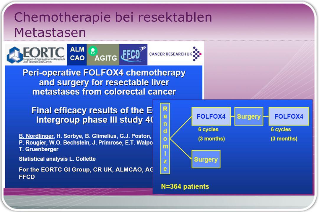 Perioperative Chemotherapie präOP: keine Therapie begonnen: 11 Pat.