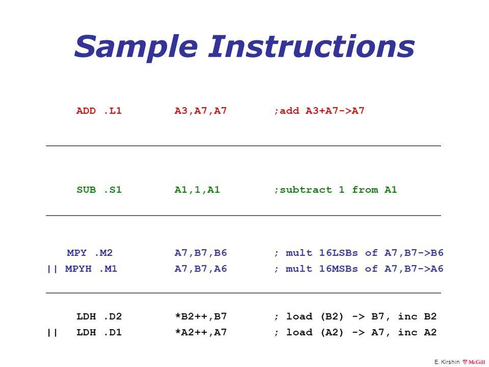 E. Kirshin Sample Instructions
