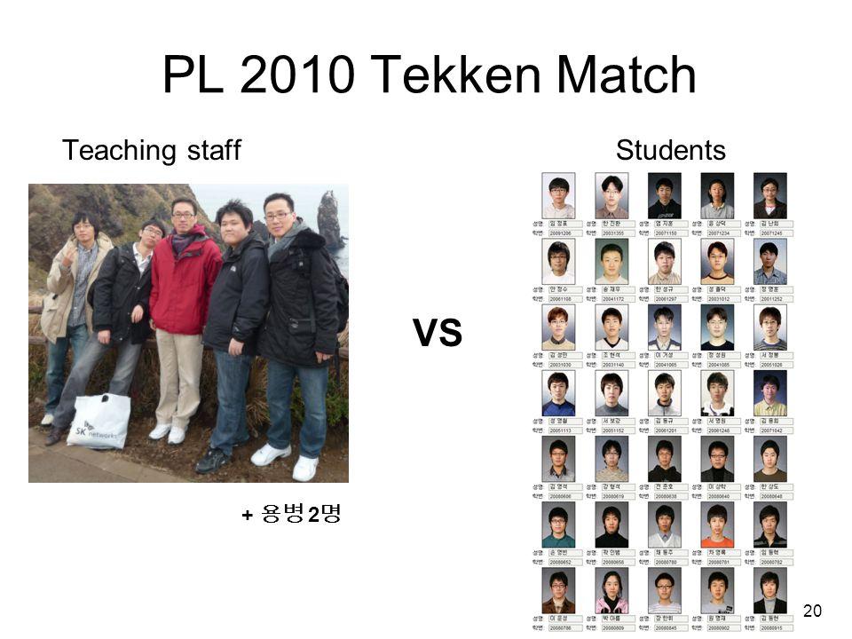 20 PL 2010 Tekken Match Teaching staffStudents VS + 용병 2 명
