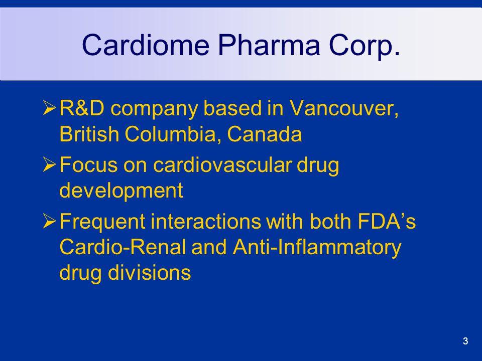 3 Cardiome Pharma Corp.