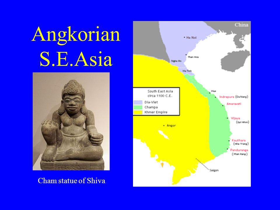 Angkorian S.E.Asia Cham statue of Shiva