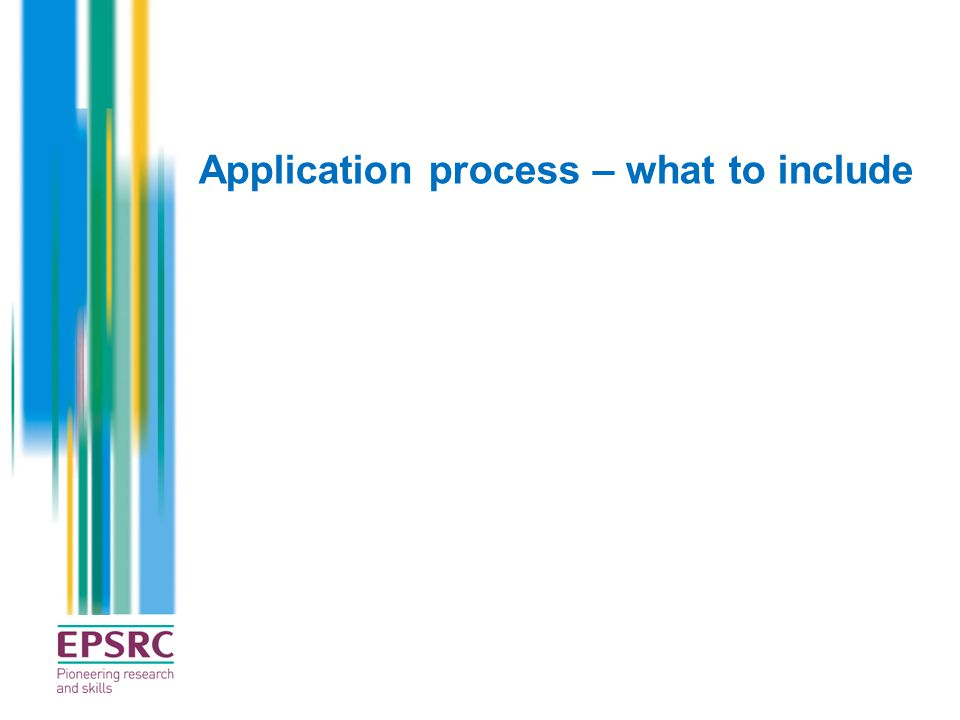 Application process – what to include