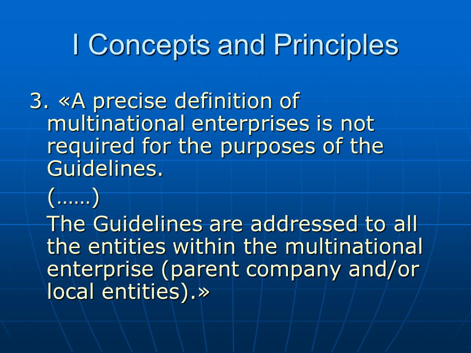 I Concepts and Principles 3.