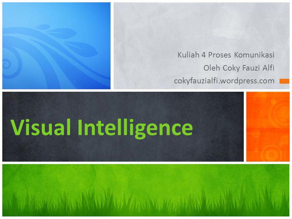 Kuliah 4 Proses Komunikasi Oleh Coky Fauzi Alfi cokyfauzialfi.wordpress.com Visual Intelligence
