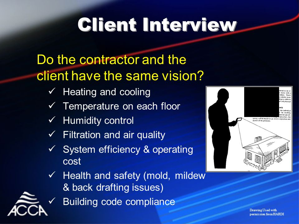 Do the contractor and the client have the same vision.