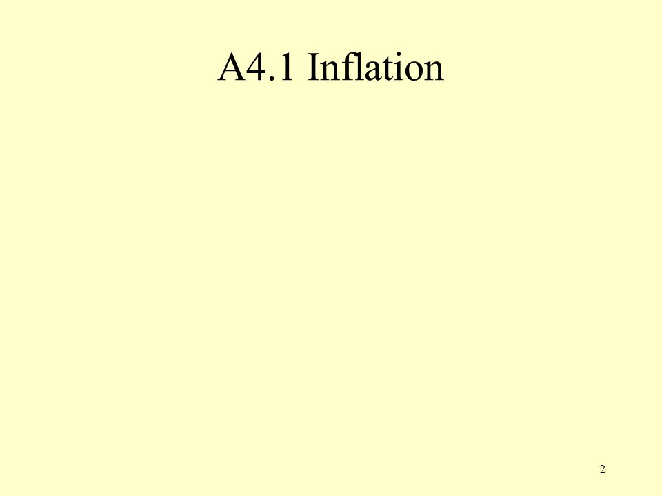 2 A4.1 Inflation
