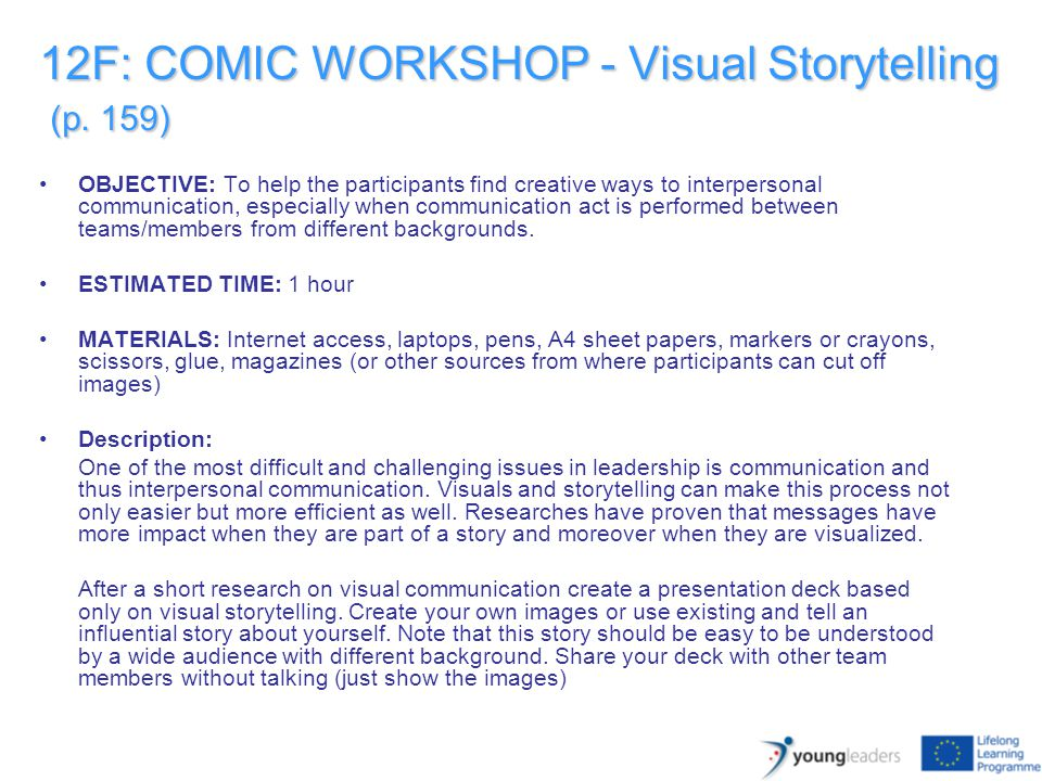 12F: COMIC WORKSHOP - Visual Storytelling (p.