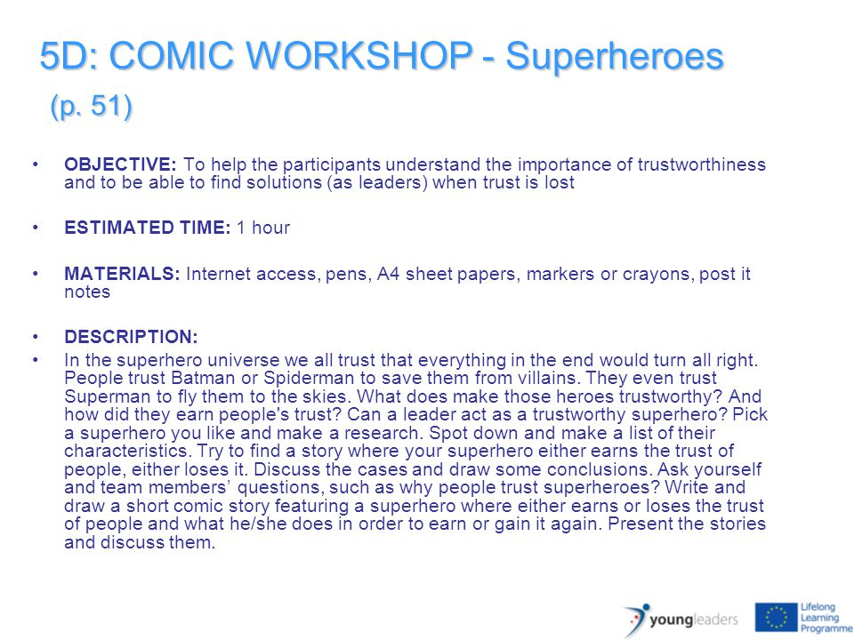 5D: COMIC WORKSHOP - Superheroes (p.