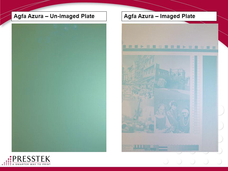 Agfa Azura – Un-imaged PlateAgfa Azura – Imaged Plate