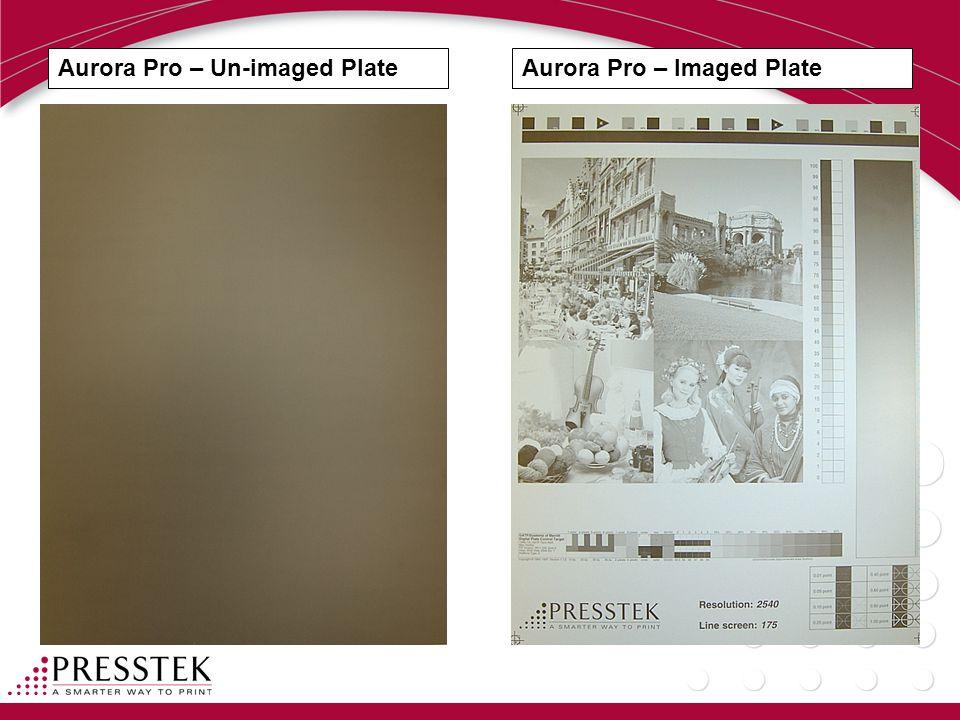Aurora Pro – Un-imaged PlateAurora Pro – Imaged Plate