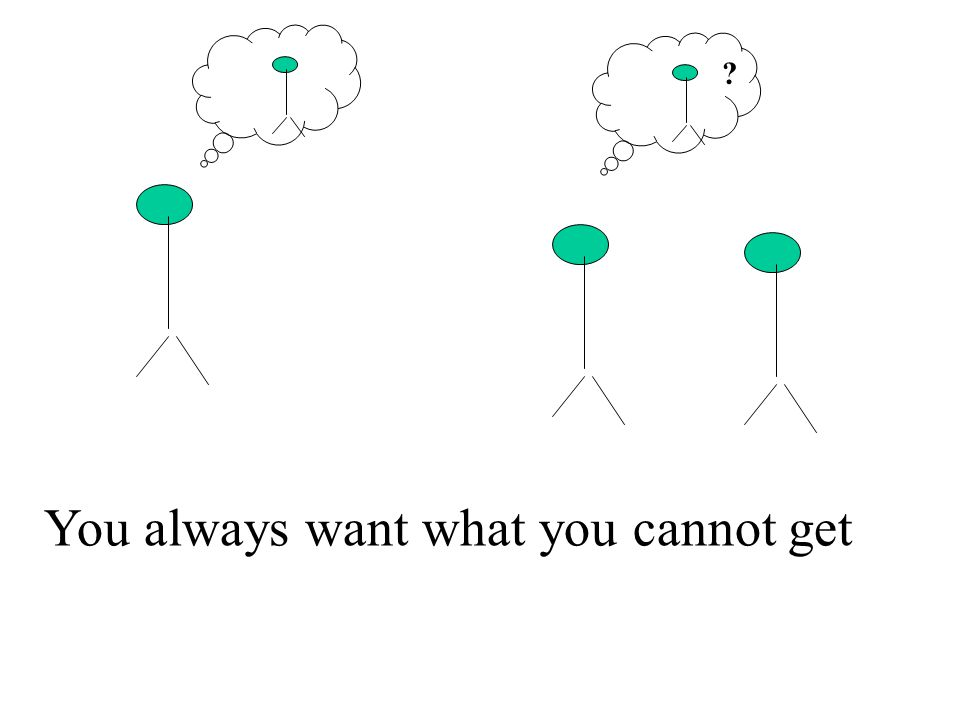 You always want what you cannot get