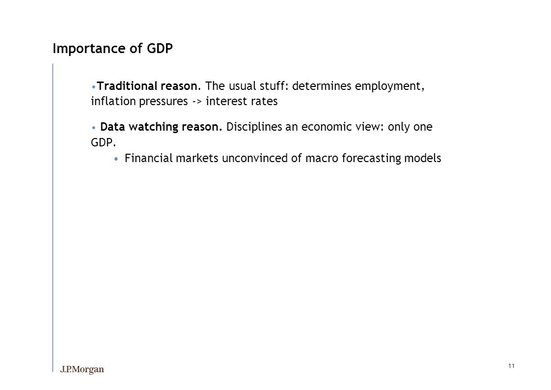 11 Importance of GDP Traditional reason.