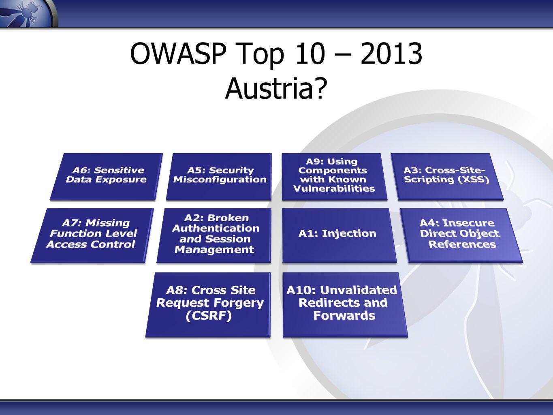 OWASP Top 10 – 2013 Austria