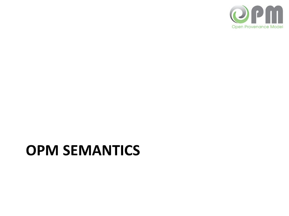 OPM SEMANTICS