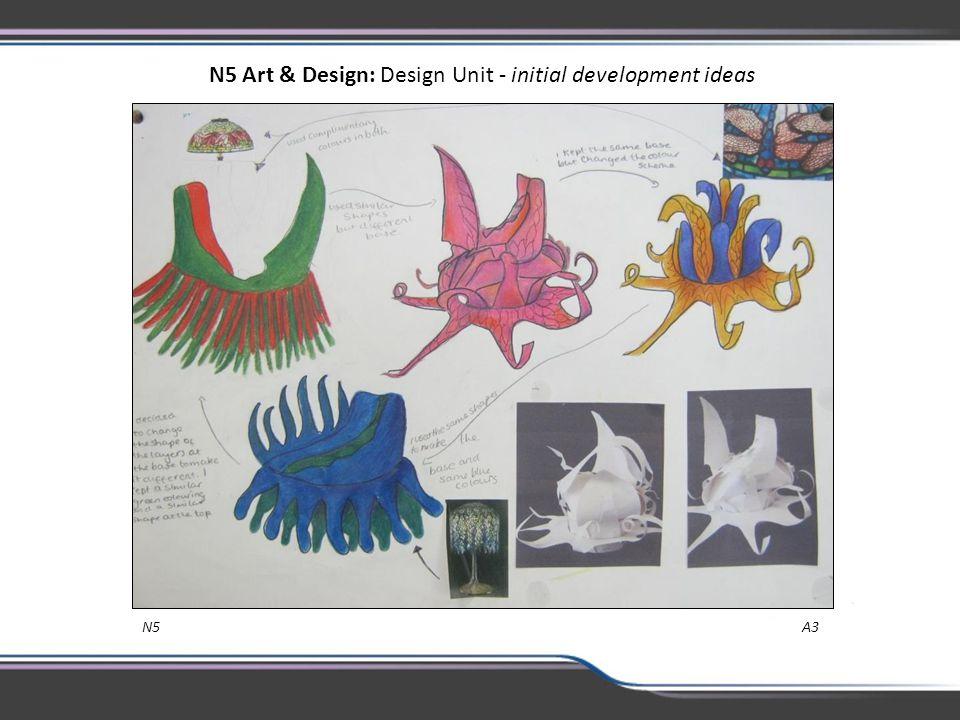 N5 Art & Design: Design Unit - initial development ideas N5 A3