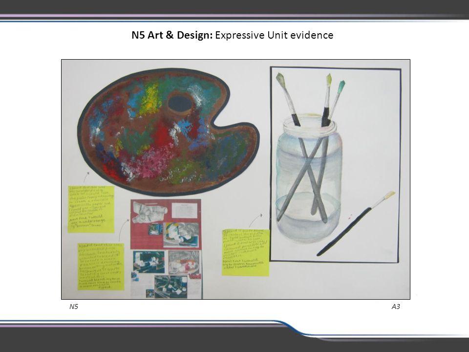 N5 Art & Design: Expressive Unit evidence N5 A3
