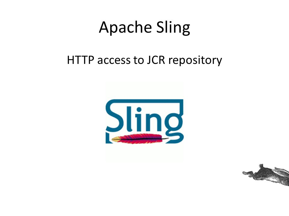 Apache Sling HTTP access to JCR repository