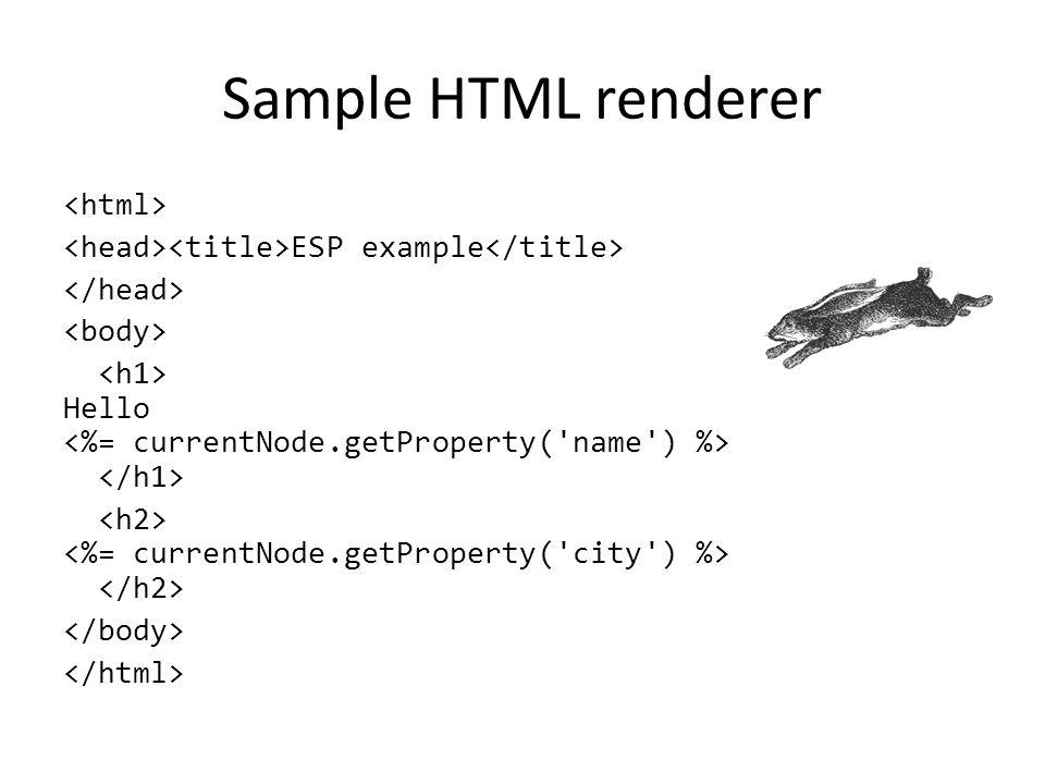 Sample HTML renderer ESP example Hello