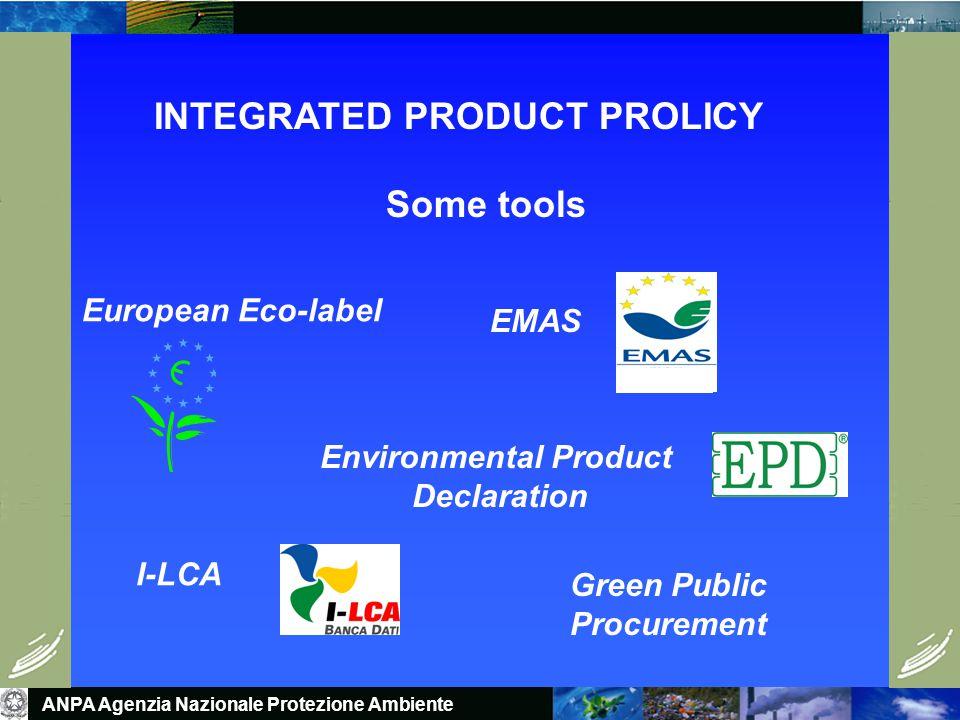 ANPA Agenzia Nazionale Protezione Ambiente IPP IMPLEMENTATION MODEL