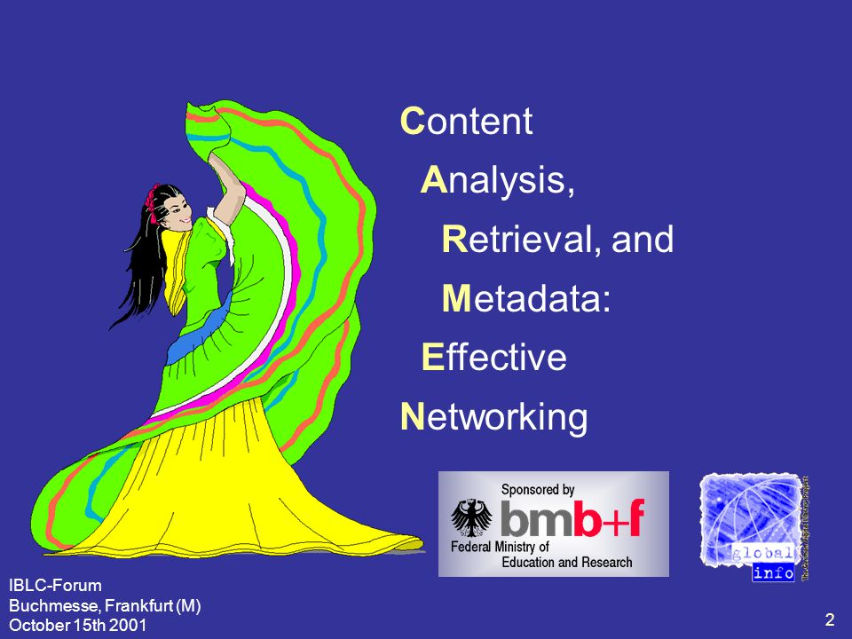 "IBLC-Forum Buchmesse, Frankfurt (M) October 15th 2001 3 Pristine Intention of Global-Info  ""..."