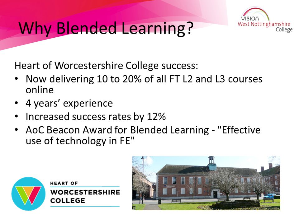 Why Blended Learning.