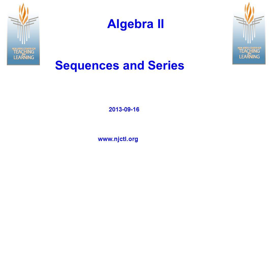 Recursive Formula To write the recursive formula for an geometric sequence: 1.