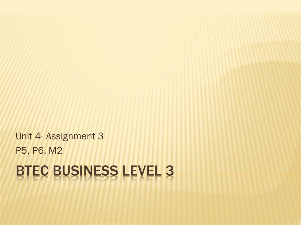 Unit 4- Assignment 3 P5, P6, M2
