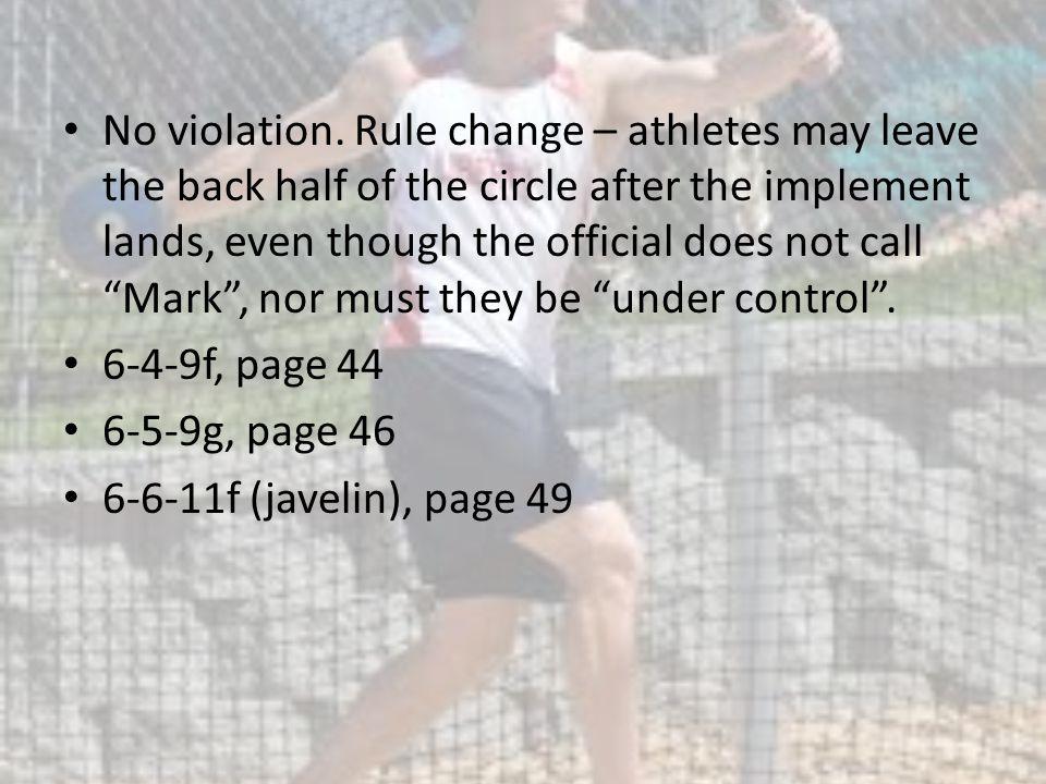 No violation.