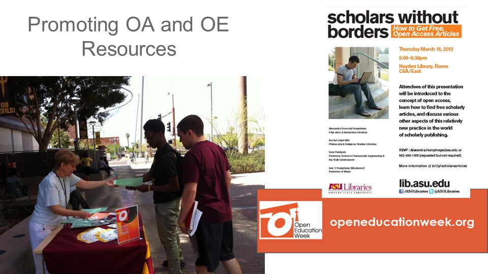 Promoting OA and OE Resources