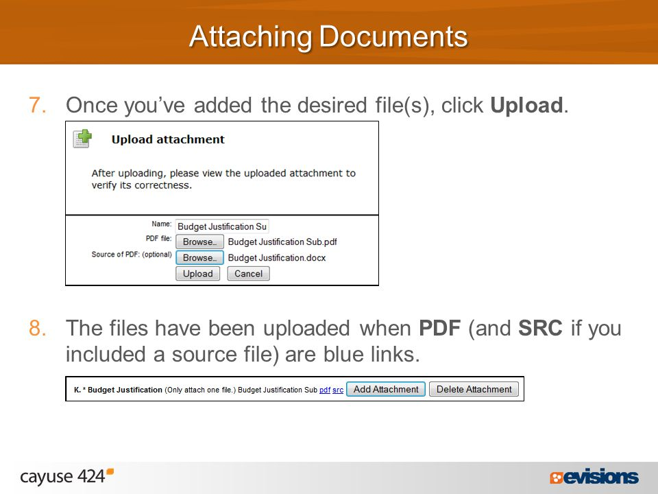 7.Once you've added the desired file(s), click Upload.