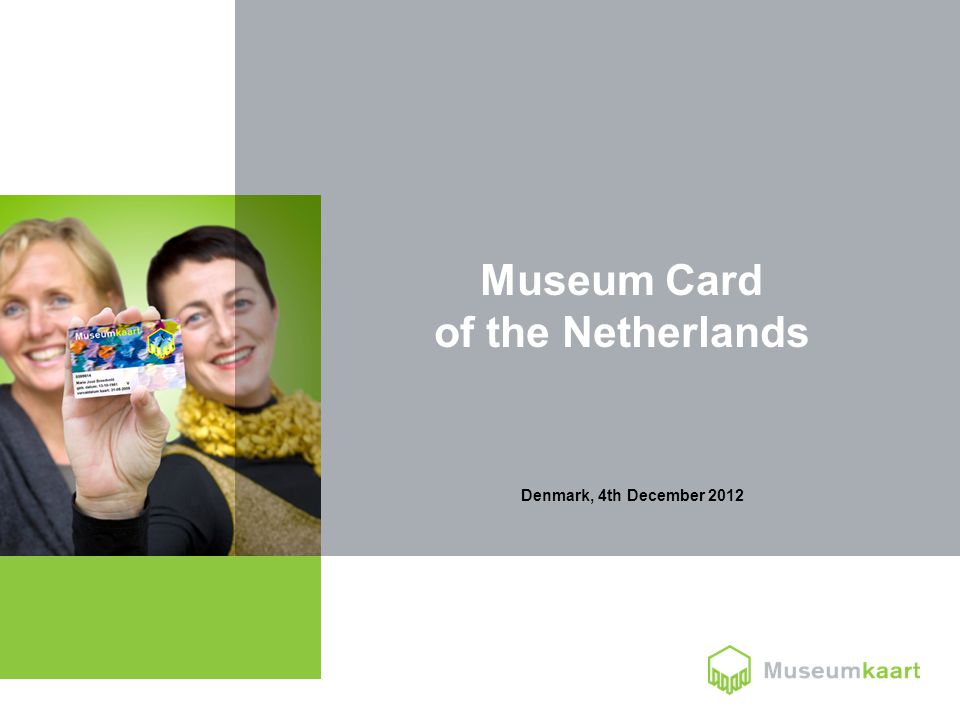 Denmark, 4th December 2012 Museum Card of the Netherlands