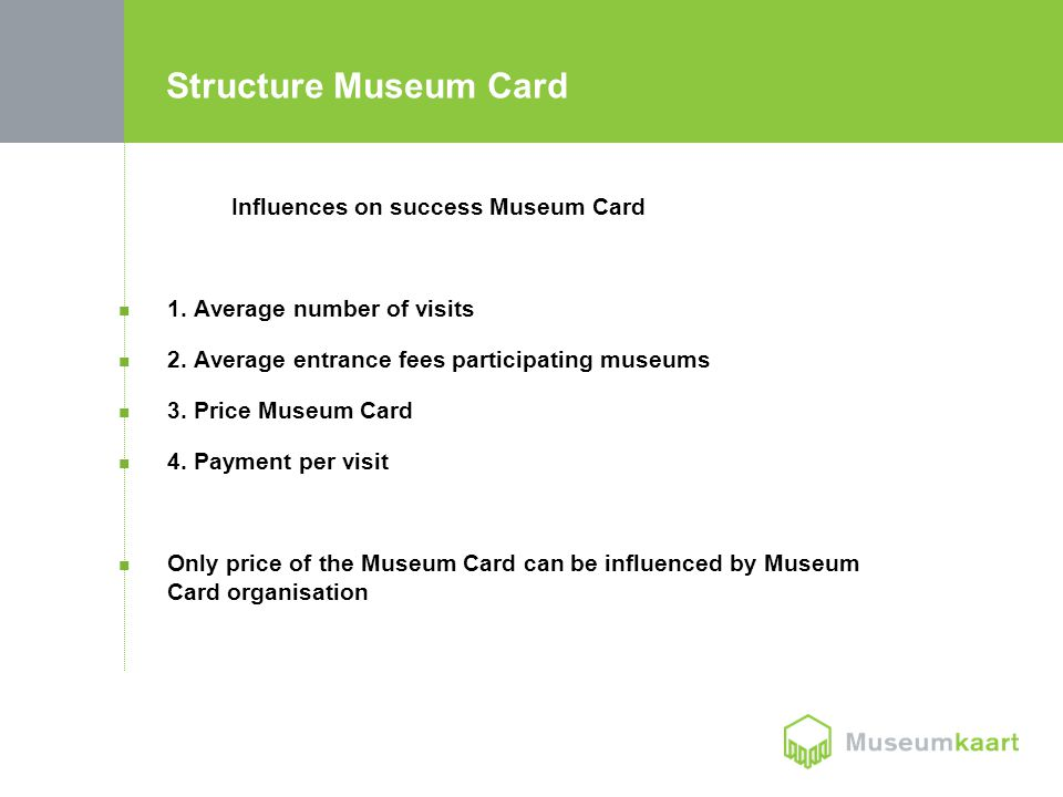 Structure Museum Card Influences on success Museum Card 1.