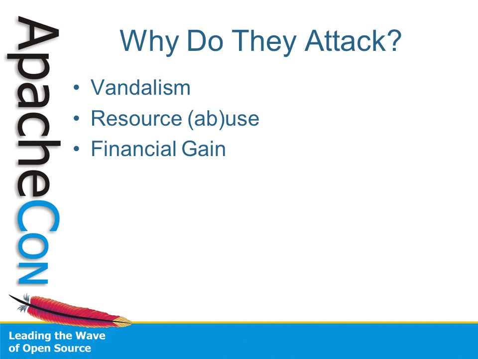 Why Do They Attack? Vandalism Resource (ab)use Financial Gain