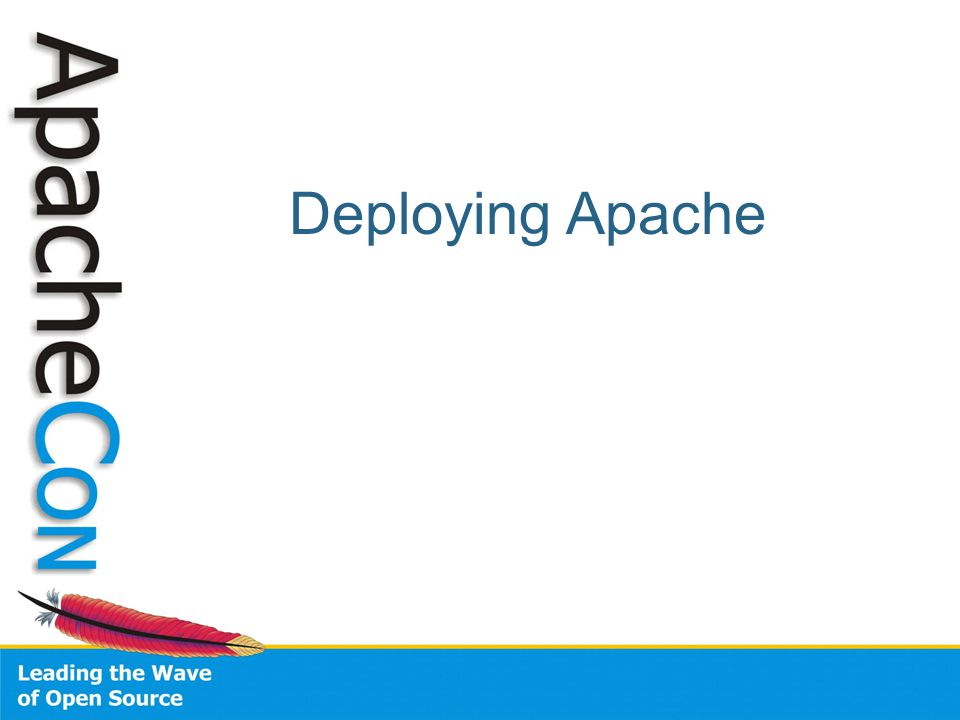 Deploying Apache