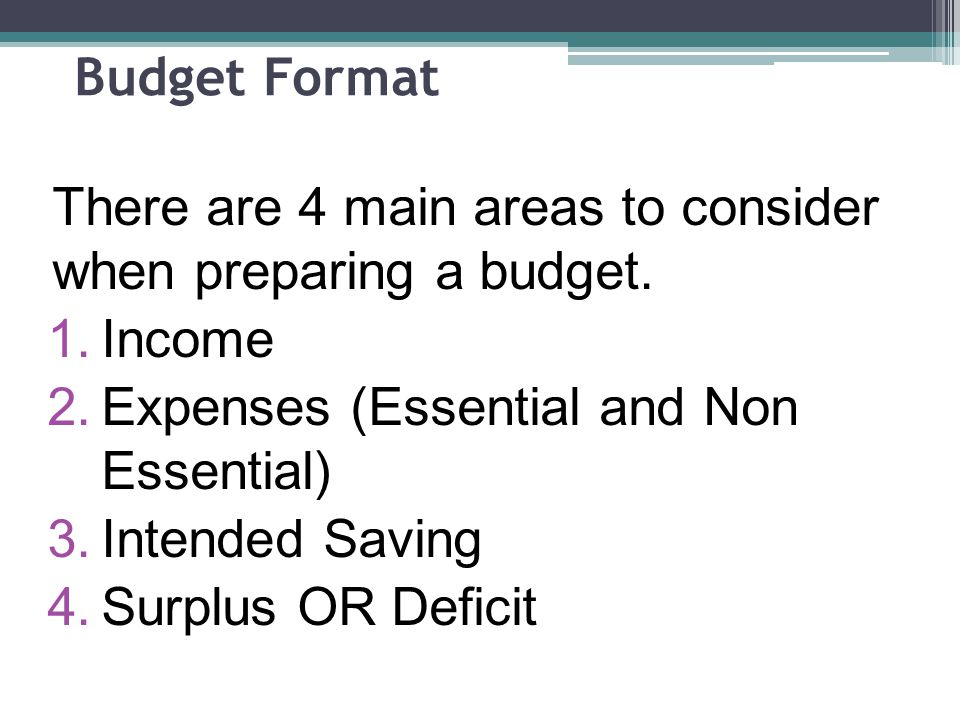 What should you do to get rid of a deficit ANSWER You must reduce your non essential expenses