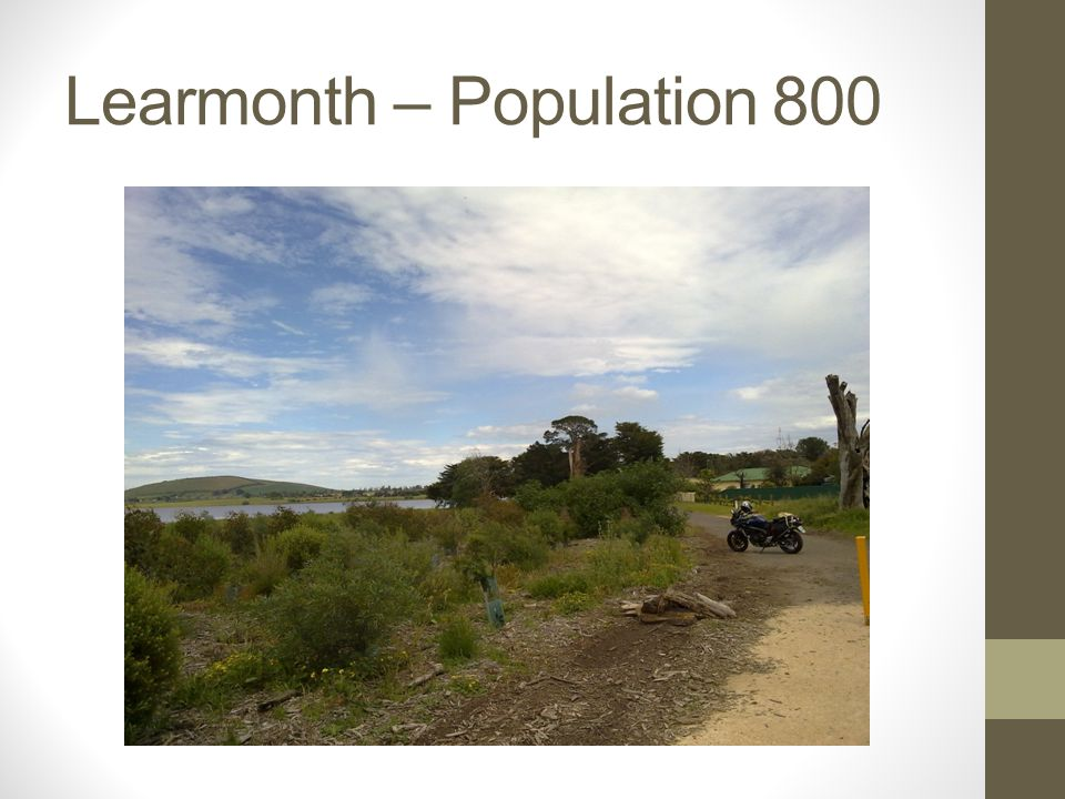 Learmonth – Population 800