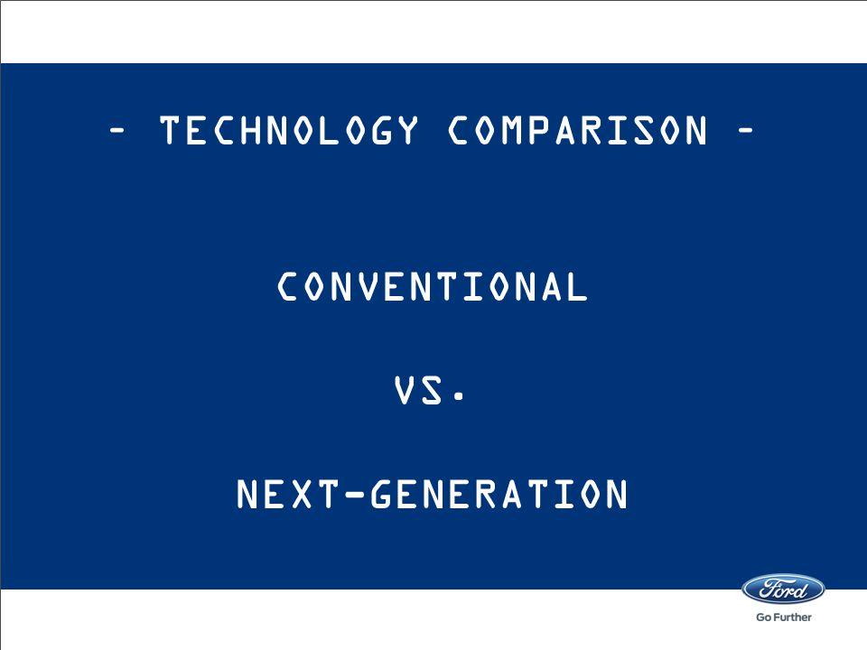 – TECHNOLOGY COMPARISON – CONVENTIONAL VS. NEXT-GENERATION
