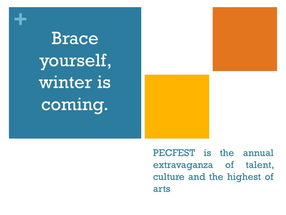 + PECFEST is the annual extravaganza of talent, culture and the highest of arts Brace yourself, winter is coming.