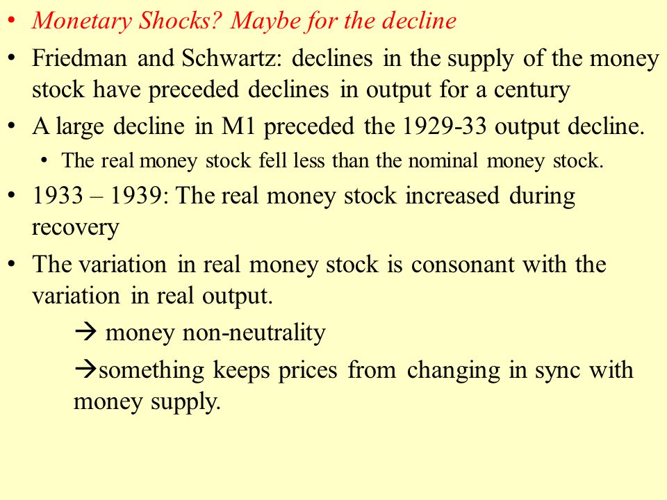Monetary Shocks.