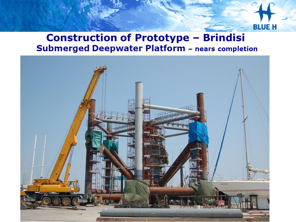 Construction of Prototype – Brindisi Submerged Deepwater Platform – nears completion