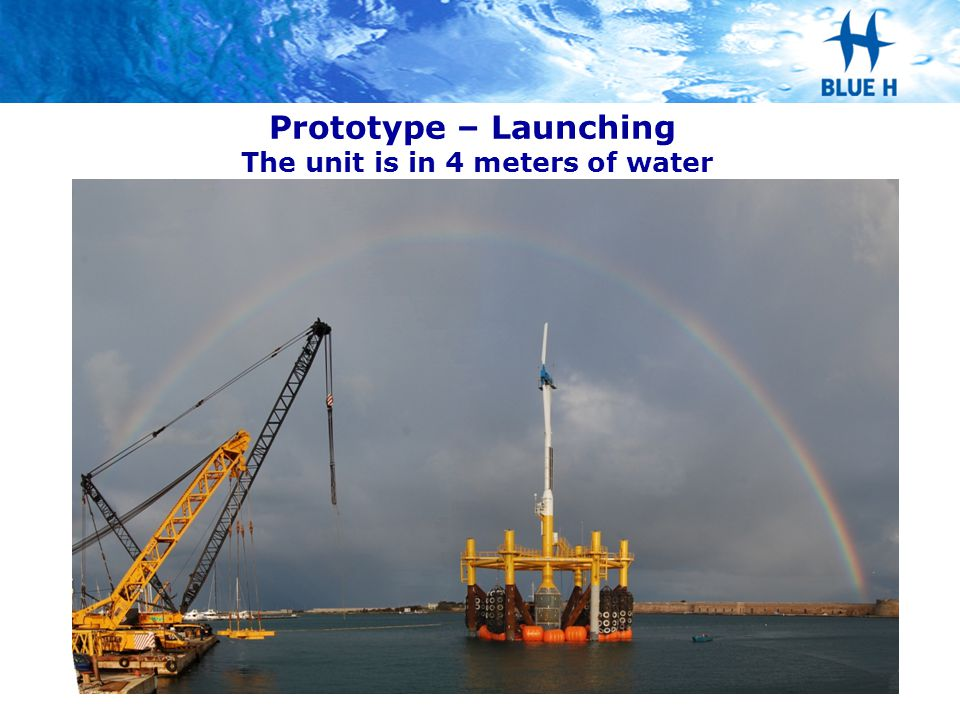 Prototype – Launching The unit is in 4 meters of water