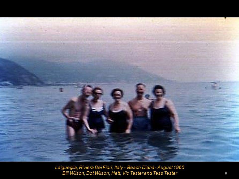 Laigueglia, Riviera Dei Fiori, Italy - Beach Diana - August 1965 Dot Wilson, Tess Tester, Hett and Bill Wilson 8