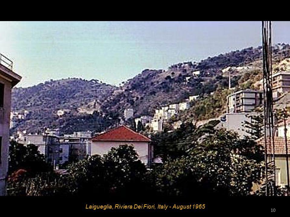 Laigueglia, Riviera Dei Fiori, Italy - Beach Diana - August 1965 Bill Wilson, Dot Wilson, Hett, Vic Tester and Tess Tester 9