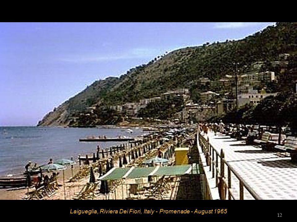 Laigueglia, Riviera Dei Fiori, Italy - Beach Diana - August 1965 11