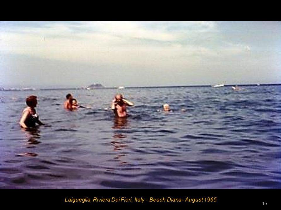 Laigueglia, Riviera Dei Fiori, Italy - Beach Diana - August 1965 14