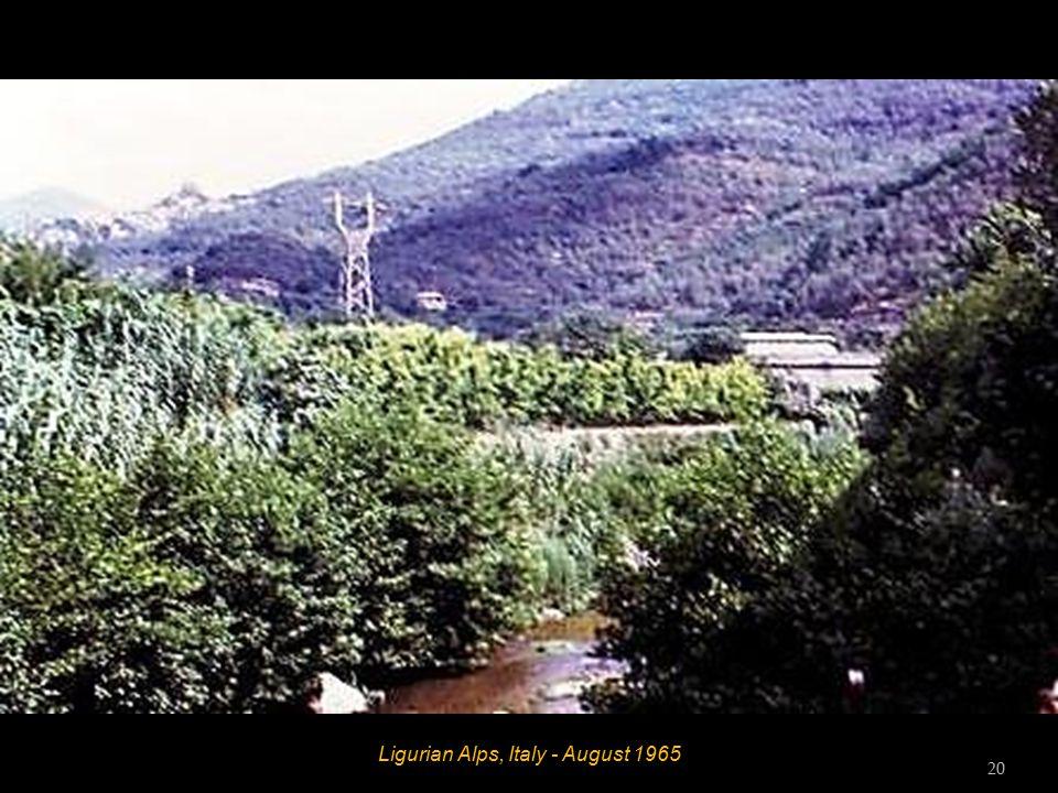 Ligurian Alps, Italy - August 1965 19